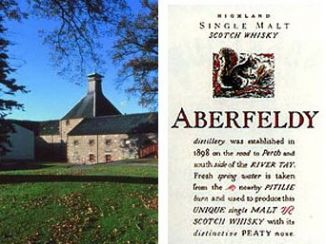 Single malt whisky - seriál - Skotsko Aberfeldy