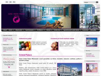 Nové stránky hotelu Cristal palace v Mariánských lázních