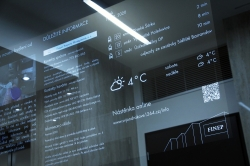 Obyvatelé rezidenčního projektu od Finepu mohou ve svém domě čerpat informace z chytrého zrcadla
